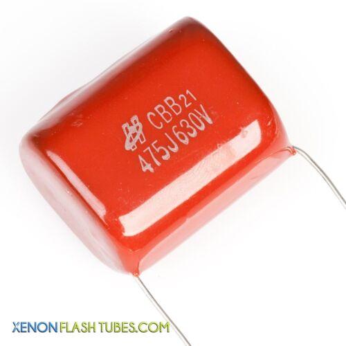 Condensador de poliéster 4.7uF 630 V 475J 475 Xenon Flash luz estroboscópica de película de pulso Cbb