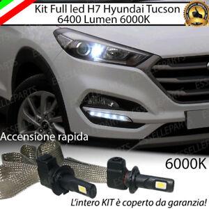 KIT LED H7 HYUNDAI TUCSON 6000K XENON LUCI DI SVOLTA ACCENSIONE RAPIDA 6400 LM