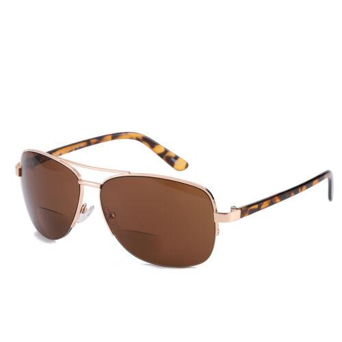 Bifocal Reading Glasses Metal Polycarbonate Readers Sunglasses Men Women 1.0~3.5