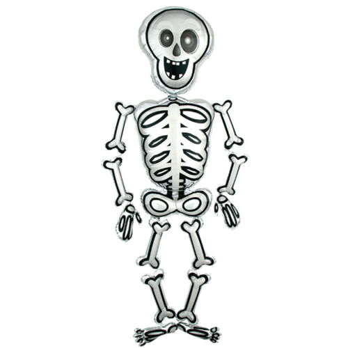 LIFE SIZE HALLOWEEN SKELETON AIR WALKER MR SKELLY BALLOON PARTY DECORATION 193CM