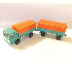 Matchbox-Lesney-No-1-amp-2-Mercedes-Camion-y-remolque-696