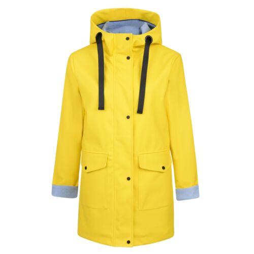 Charcoal Fashion Women/'s Premium Yellow Water Resistant Rubber Rain Coat