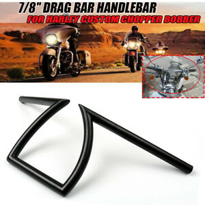 """7//8/"""" Drag Handlebar Z Bar Rise For Harley Custom Chopper Bobber"""
