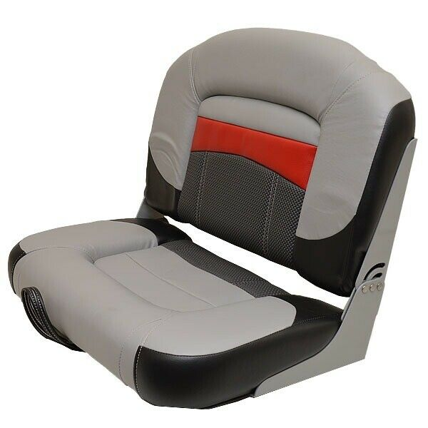 Wise Boat Folding Seat 177349 | Tracker Gray Black Red