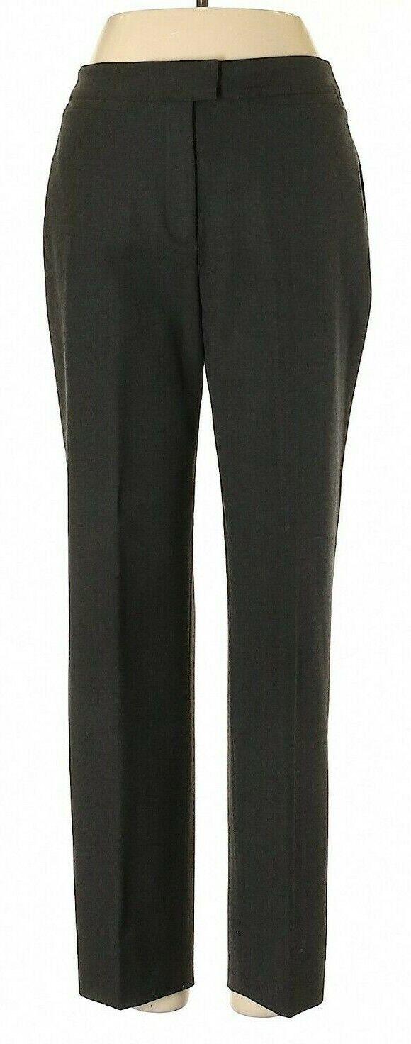 PIAZZA SEMPIONE Dark Charcoal All-Season Wool Blend Brigitte Pants Größe 42