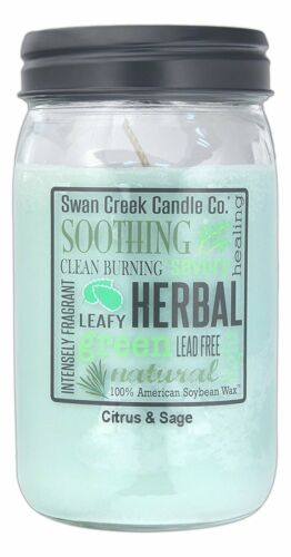 Swan Creek Candle Citrus and Sage 24 Oz
