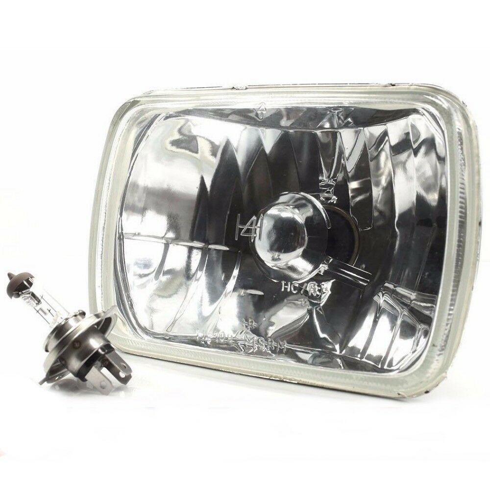 H4 CLEAR GLASS FRONT HEADLIGHT for CHEVROLET ASTRO BLAZER S-10 SUBURBAN  TAHOE