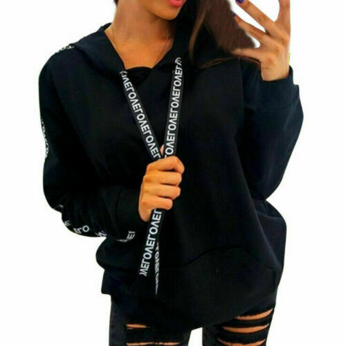 Royaume-Uni Pour Femme Femmes Pull Pull Tops Sweats à Capuche Casual Sweat-shirt Plus Taille