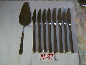 VINERS-EXECUTIVE-SUITE-STAINLESS-STEEL-DINNER-DESSERT-amp-CAKE-KNIVES