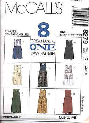 8279 UNCUT Vintage McCalls SEWING Pattern Misses Loose Fitting Jumper 8 Looks FF