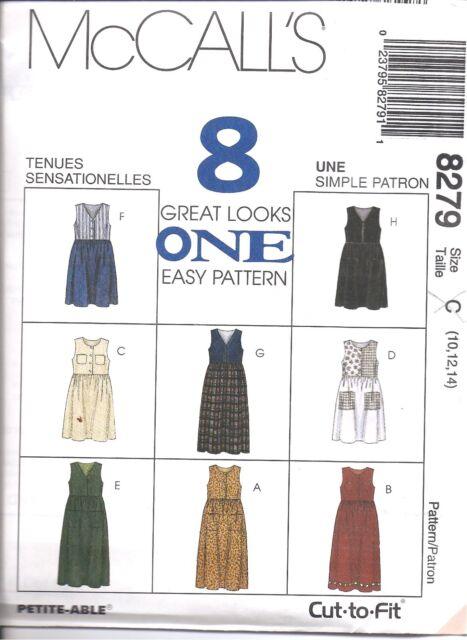 8765 UNCUT Vintage McCalls Sewing Pattern Misses Loose Fitting Jumper Dress oop