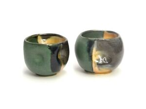 MATCHING-PAIR-SIGNED-LB-STUDIO-ART-POTTERY-CUP-VOTIVE-HOLDERS-ONE-OF-A-KIND