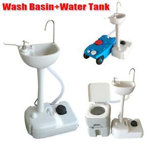 Outdoor Removable Camping Wash Basin Sink Stand Water Tank ... on Outdoor Sink With Stand id=60980