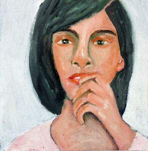 Original Woman Oil Portrait Painting Katie Jeanne Wood