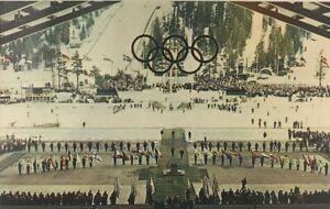 Closing-Ceremonies-1960-VIII-Winter-Olympics-Squaw-Valley-CA-Vintage-Postcard
