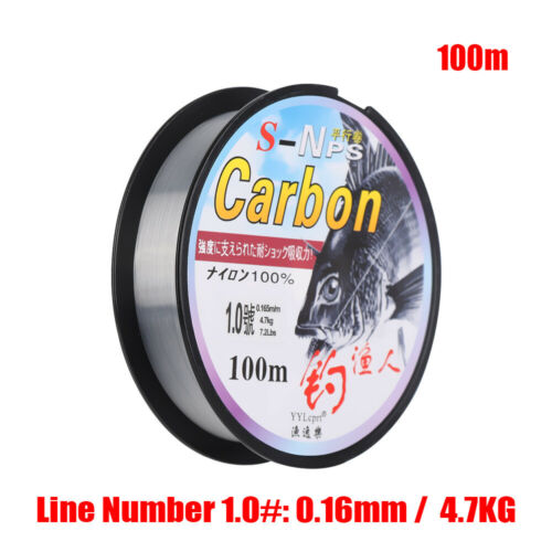 Monofilament Fishing Line Polyester Bait  Fluoro Carbon Elastic Thread Spool
