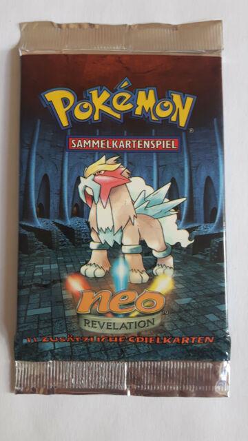 Pokemon Booster Entei Artwork Neo Revelation DEUTSCH TCG WOTC 2002 MINT PP&FAST
