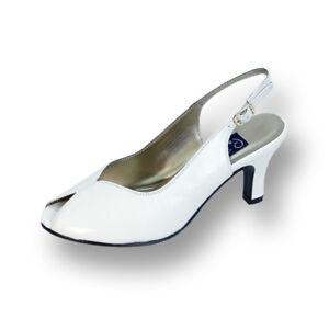 831f80f145abf 👠 PEERAGE Zara Women Wide Width Vamp Cut Out Peep Toe Leather Heel ...