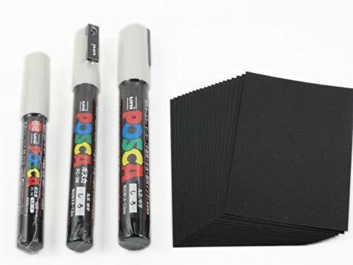 Komainu-Dou Original Package Uni Posca Paint Marker PC-1M White Japan Import 3 pens per Pack