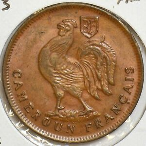 France 1943 Franc Rooster animal Cameroon 298092 combine