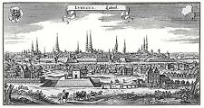 MAP ANTIQUE MERIAN 1650 WEIMAR CITY PLAN OLD LARGE REPLICA POSTER PRINT PAM1092