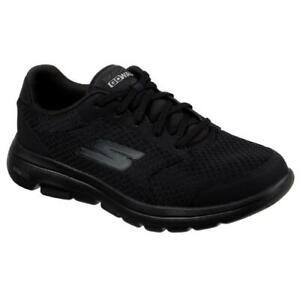 skechers gowalk 5 qualify black lace up comfort walking