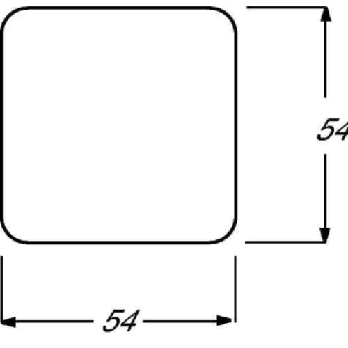 Busch-Chasseurs Bascule Blanc Avec Rouge calotte 2509-212 interrupteur boutons poussoir Couverture