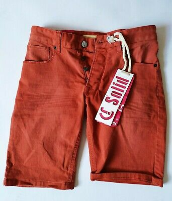 !solid Shorts Kurze Hose Jeans Gr. S Rot Exquisite Traditionelle Stickkunst