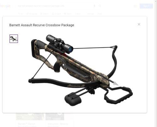Barnett Assault Recurve Crossbow Package 245 fps  NEW  150 lb