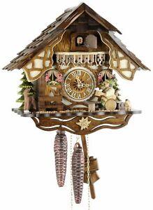 -fachwerkhaus Biertrinker 24cm- Kuckucksuhr Original Schwarzwälder