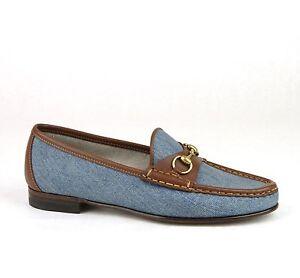 c42174b2151c  625 New Authentic Gucci Womens 1953 Denim Horsebit Loafer Moccasins ...