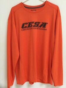 Acheter Pas Cher Men's Cesa De Football à Manches Longues T-shirt, Orange Jersey, Athletic Activewear, Xl-afficher Le Titre D'origine Produits De Qualité Selon La Qualité