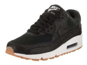 Nike Air Max 90 Premium Black Black-Gum Yellow-White (WS) (896497 ... d4c2bb7d8045