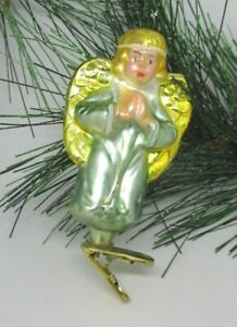 Christborn PRAYING ANGEL Clip-on Blown Glass Ornament Made in Germany