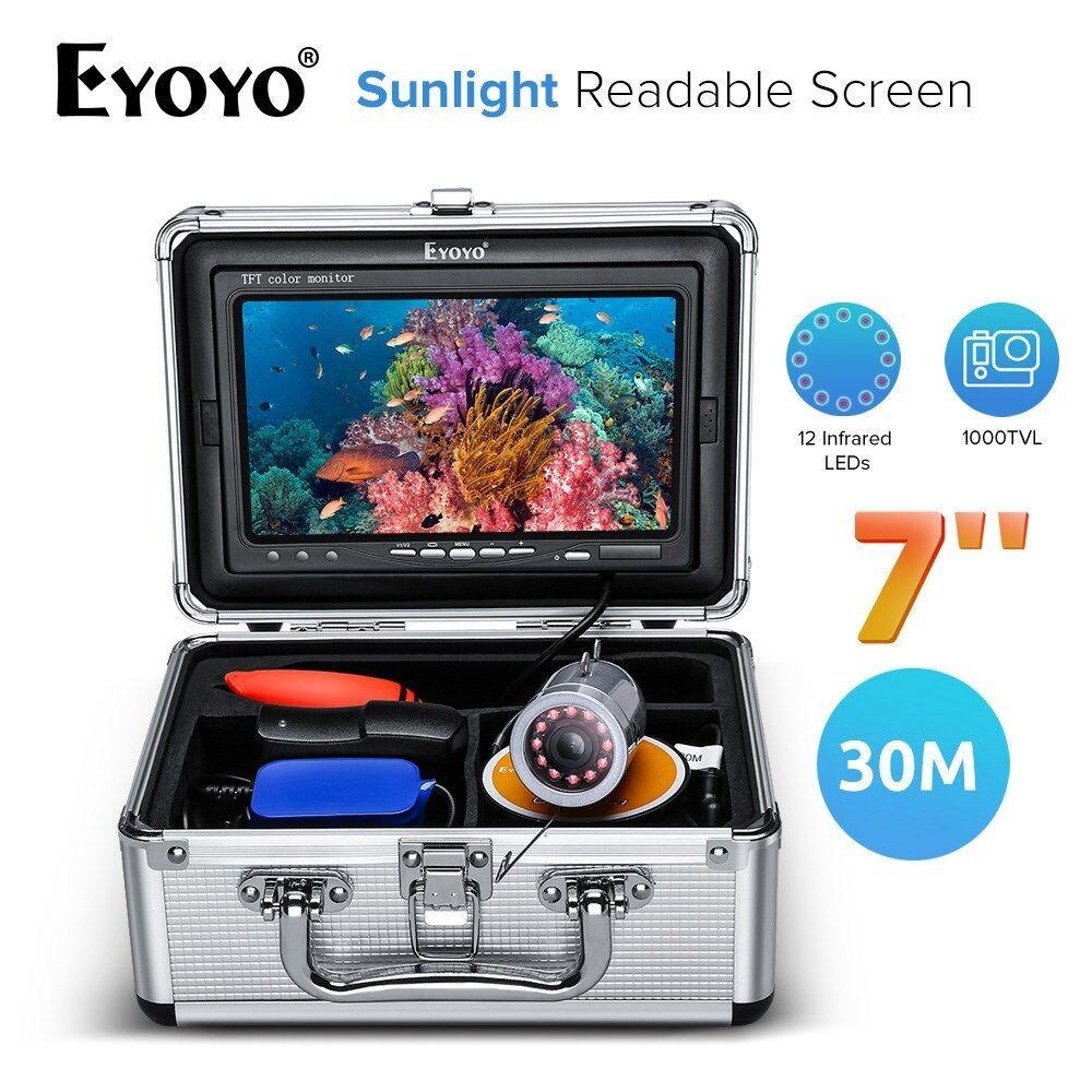 Cámara Subacuática Pesca eyoyo 7  pantalla legible luz solar 30M Fishfinder IP68