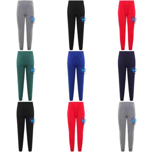 Unisex Boys Girls Fleece PE Gym School Jogging Bottoms Trousers Joggers Pants