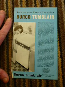 old Burco Tumblair leaflet team up with 21 dryer drying machine