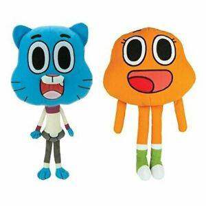 9-034-Official-Amazing-World-Of-Gumball-DARWIN-Plush-SET-Stuffed-Toy-Gift-Licensed