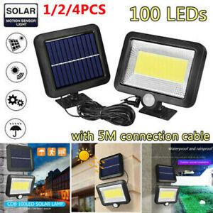 100-LED-30W-Solar-Power-Sensor-Motion-Light-Garden-Flood-Lamp-Security-Wall-Lamp