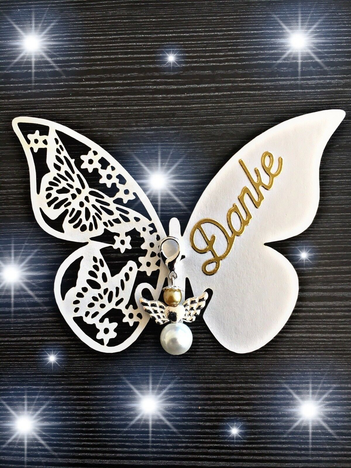 50x Gastgeschenk Schmetterling Schutzengel Hochzeit Taufe Kommunion Konfirmation | ein guter Ruf in der Welt  | Attraktives Aussehen