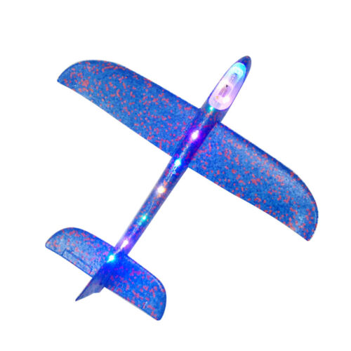 2019 LED Light Foam Hand Throw Airplane Launch Glider Flying Plane Kids Toy Gift