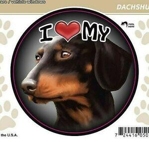 I-Love-My-Black-Dachshund-Dog-3-034-Decal-Vehicle-Windows-or-Drinkware