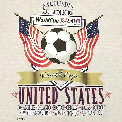 USA 94 Graphic Tshirt Retro United States Football World Cup Logo 90/'s Soccer