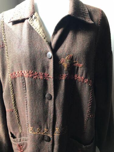 Vintage April Cornell tweed embroidered jacket