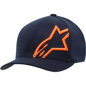 Alpinestars-Corp-Shift-2-Curved-Brim-A-Base-Cap-Visiere-Bleu-Fonce-Orange