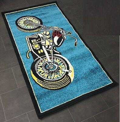 Kids Motorcycle Bike Playmate Rug Bedroom Play Room Boys Fun Play Mat Throw New