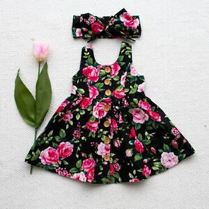 Baby-Girl-Floral-Dress-Kid-Party-Wedding-Pageant-Formal-Dresses-Sundress-Clothes