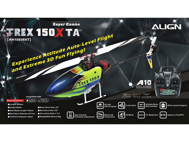 - T REX 150X TA SUPER COMBO CON Align A10 Trasmettitore
