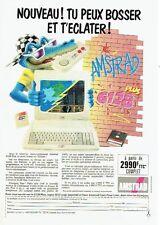 Publicité Advertising 037  1990   Amstrad  le micro-ordinateur 6128 plus