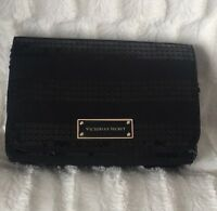 Victoria's Secret Sequin Makeup Cosmetic Fold Over Case Bag